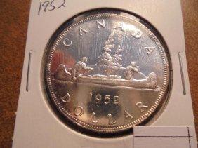 1952 Canada Silver Dollar Unc