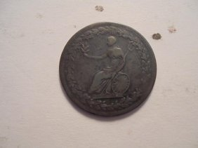 1814 Canada Spread Eagle Half Penny Token