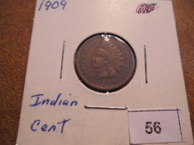 1909 Indian Head Cent Extra Fine