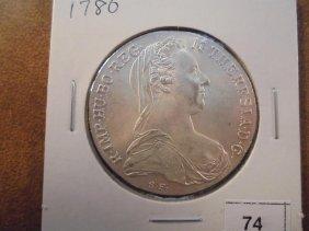1780 Austria Maria Theresia Thaler (silver) Unc