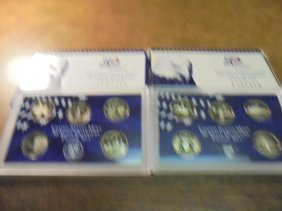 1999 & 2000 Us 50 State Quarters Proof Sets With Boxes