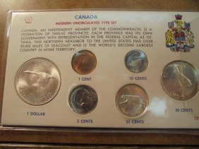 1967 Canada Silver Unc Type Set As Shown