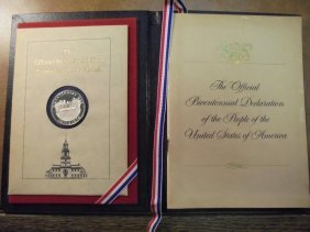 Silver Official Bicentennial Day Commemorative Medal In