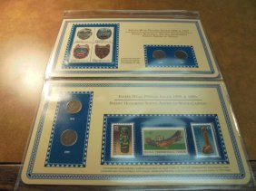 1896,97,98 & 99 Indian Head Cent & Stamp Sets As Shown
