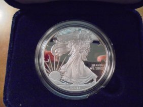 2011-w Proof American Silver Eagle Original Us Mint