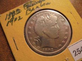1902 Barber Half Dollar (fine)
