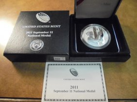 2011 Sept. 11 National Medal Silver Proof Original Us
