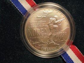 1991-d Korean War Unc Silver Dollar Original Mint