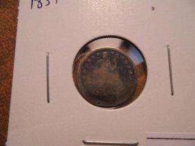 1851 Seated Liberty Half Dime