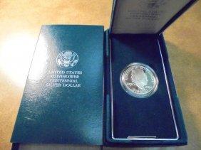 1990-p Eisenhower Centennial Pf Silver Dollar Original