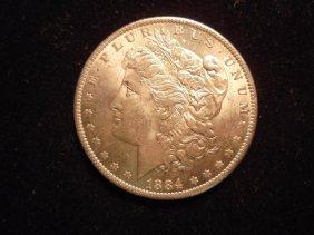 1884-o Morgan Silver Dollar Au/unc
