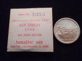 1769-1969 San Diego Bicentennial Sterling Silver