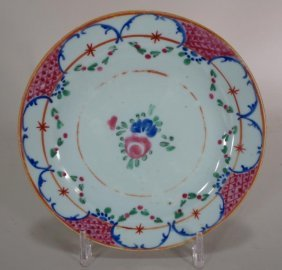 Group Of Six Chinese Export Plates, 18th C.