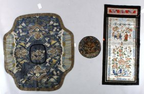 3 Pieces Of Chinese Embroidery