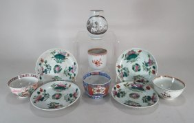 8 Pieces Chinese Export Porcelain And Imari Bowl