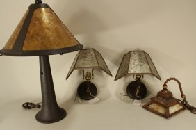 Arts And Crafts Style Wood,metal Light Fixtures