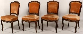 Set Of 4 Russian Rosewood Chairs