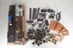 Lot Of Metal Mission Style Cabinet/door Hardware