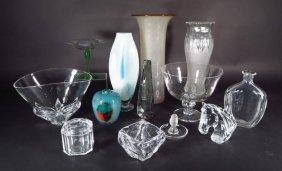 12 Pcs.glass: Steuben, Lalique, Orrefors Etc.