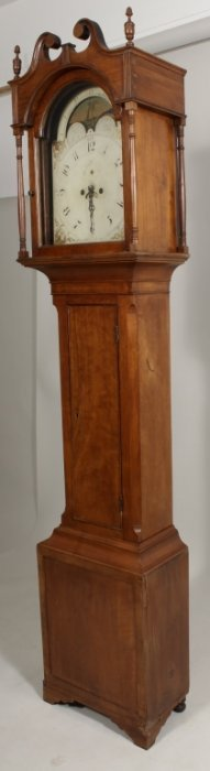 American Tall Case Clock, Cherry, C. 1820