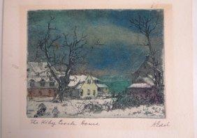 Albert Edel, Am., 1890-1961, 2 Cape Cod Etchings