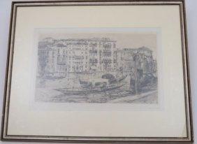 "Frank Duveneck ""view Of The Grande Canal Venice"""
