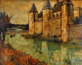 "Charles Levier, ""le Chateau"", O/c"