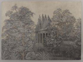 Three Large Landscape Paintings, 20th C.