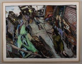 "James Romberger, Pastel, ""the World"""