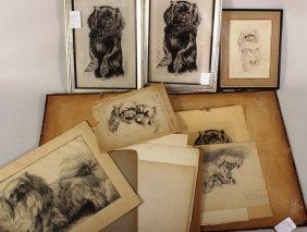 George Baer, Am., Pekingese Series - Sketches