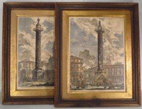 After Giovanni Battista Piranesi, 2 Engravings
