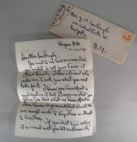Georgia O'keeffe Handwritten Letter - Ghost Ranch