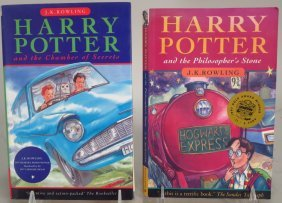 2 British Harry Potter Books, 1997/1998