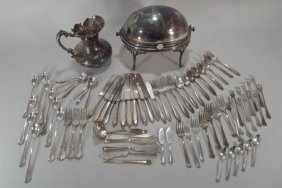 Group Of Silver Plate Articles