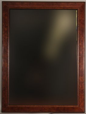 Burled-wood Framed Mirror With Beveled Glass