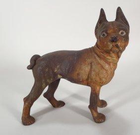 Cast Iron Figural Doorstop, Boston Terrier