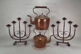Four Pieces Of Hand Wrought Metal Ware
