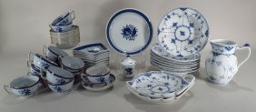 Group Of Blue And White Porcelain, Continental