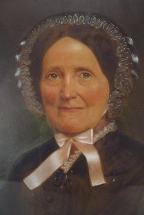 Civil War Era Portrait Of A Woman, Pastel.