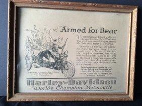 Harley-davidson Framed Ad