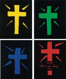 GILBERT & GEORGE, Coloured Faith, 1980