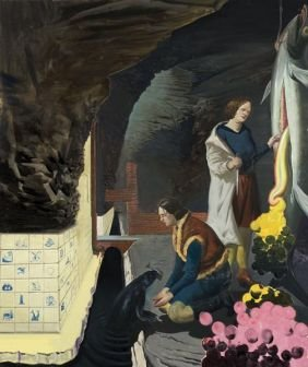 NEO  RAUCH  (b. 1960)  Grotte.  Signed And Dated