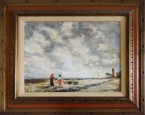Mid-century Cape Florida Oil Painting John Horwood