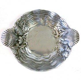 Arthur Court Style Nautical Seashell Motif Bowl
