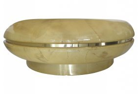 Midcentury Modern Springer Style Parchment Coffee Table