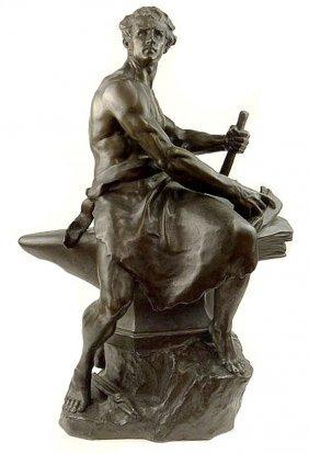 Emile E. Peynot 19th-c. French Bronze Sculpture
