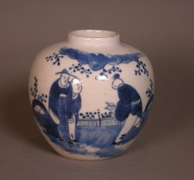 Chinese Blue And White Jar, 19th Century