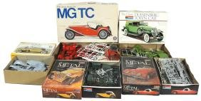 Toy Car Model Kits W/boxes (5), Entex MGTC 1/18 Scale,