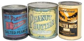 Country Store Tins (3), Superior Salted Nuts, Planters