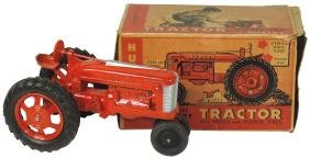Toy Tractor W/box, Hubley Scale Model Kiddie Toy-No.
